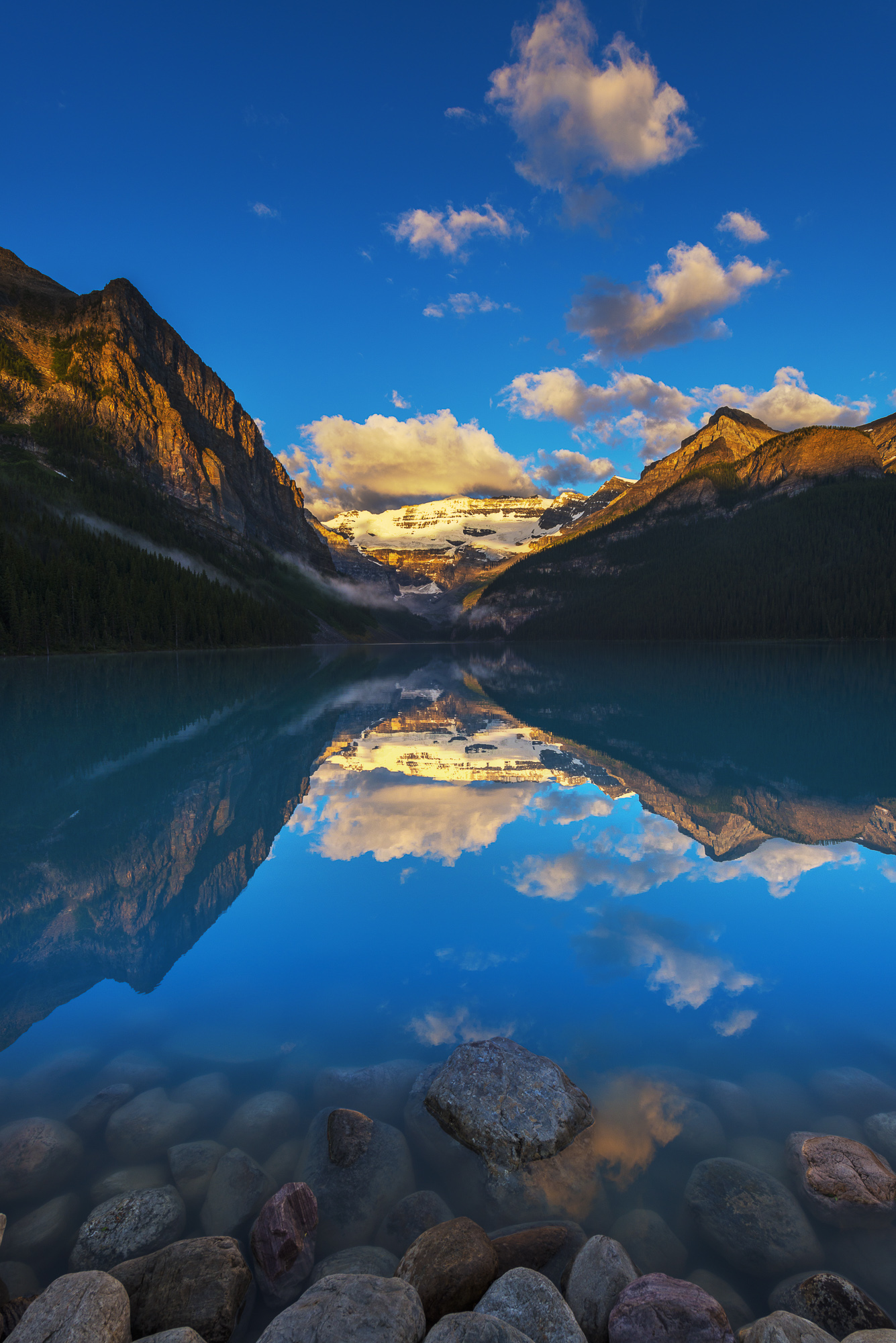 Lake Louise Reflections, Banff National Park, Alberta, Canada