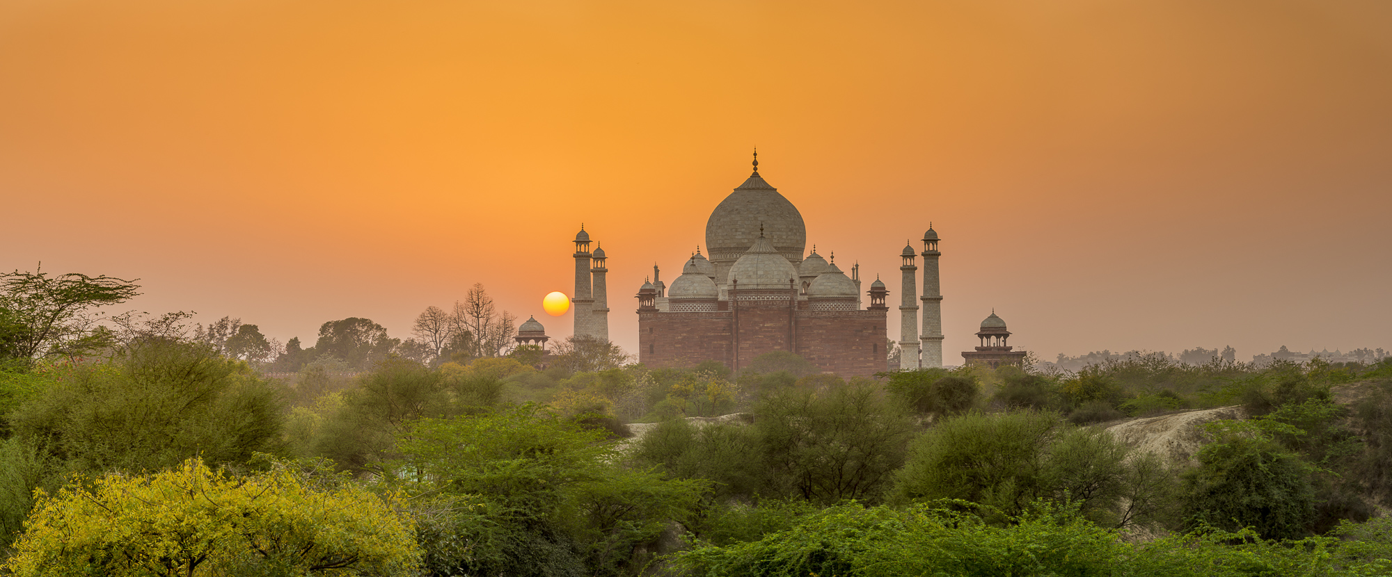 Taj Mahal at Sunset, Agra, Uttar Pradesh, India