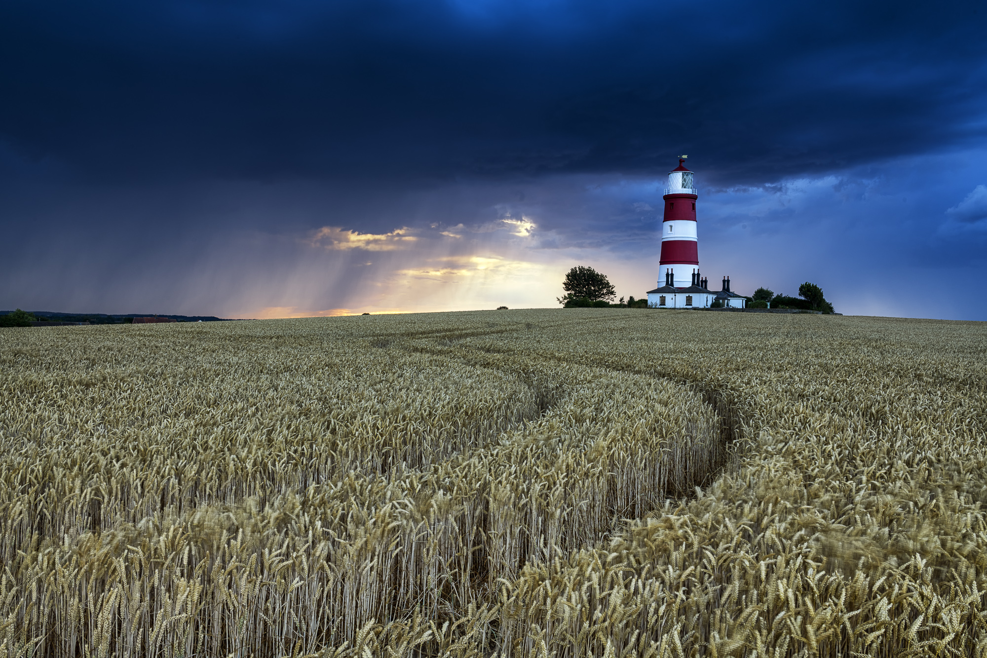 Storm over Happisburgh Lighthouse, Norfolk, England