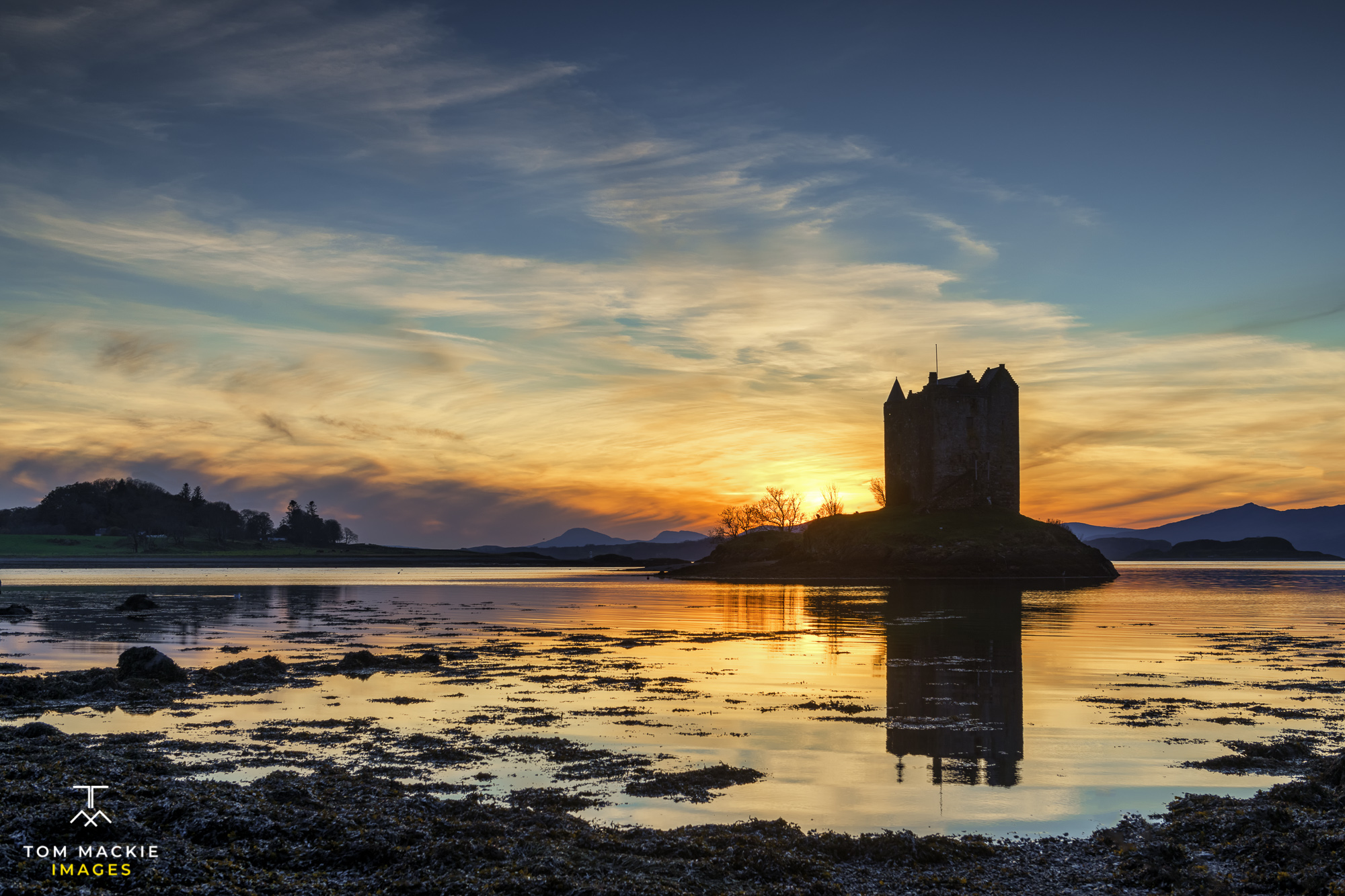 Castle Stalker at Sunset, Argyll and Bute, Scotland