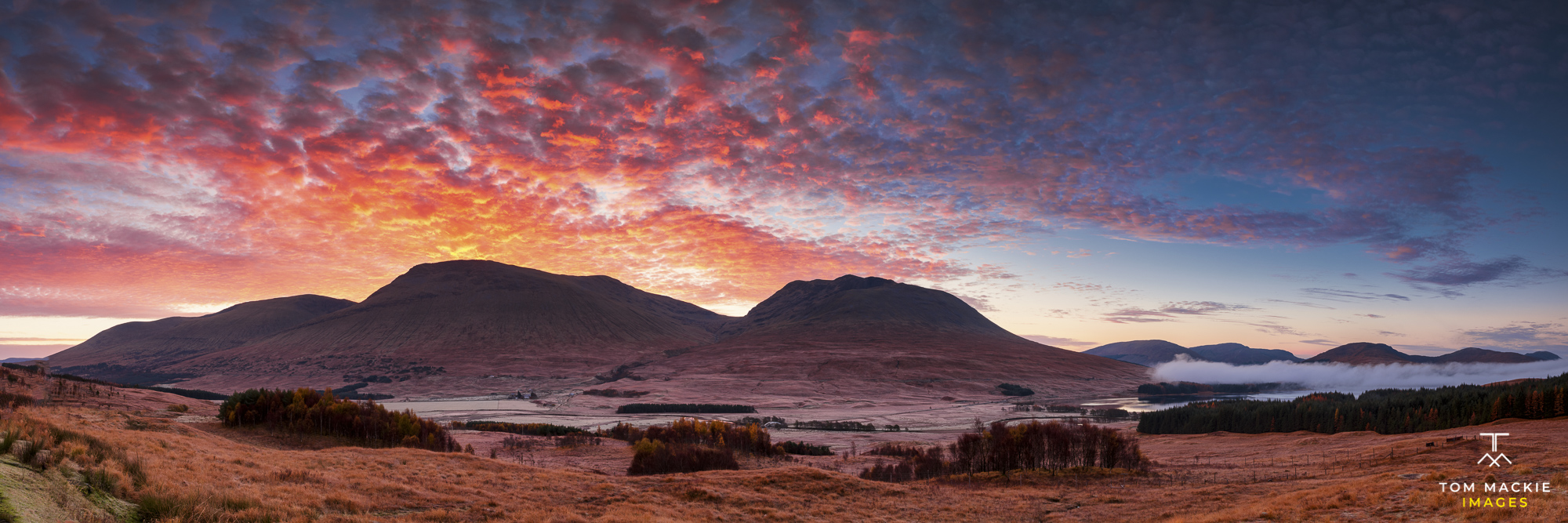 Sunrise from Loch Tulla Viewpoint, Argyll and Bute, Scotland