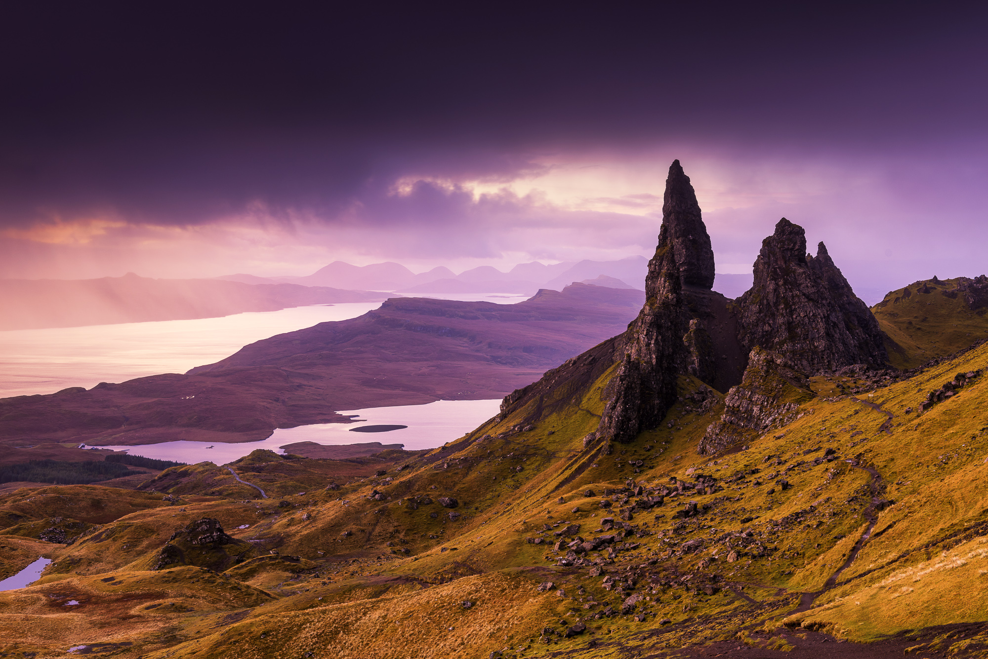 Old Man of Storr at Sunrise, Isle of Skye, Highland Region, Scotland
