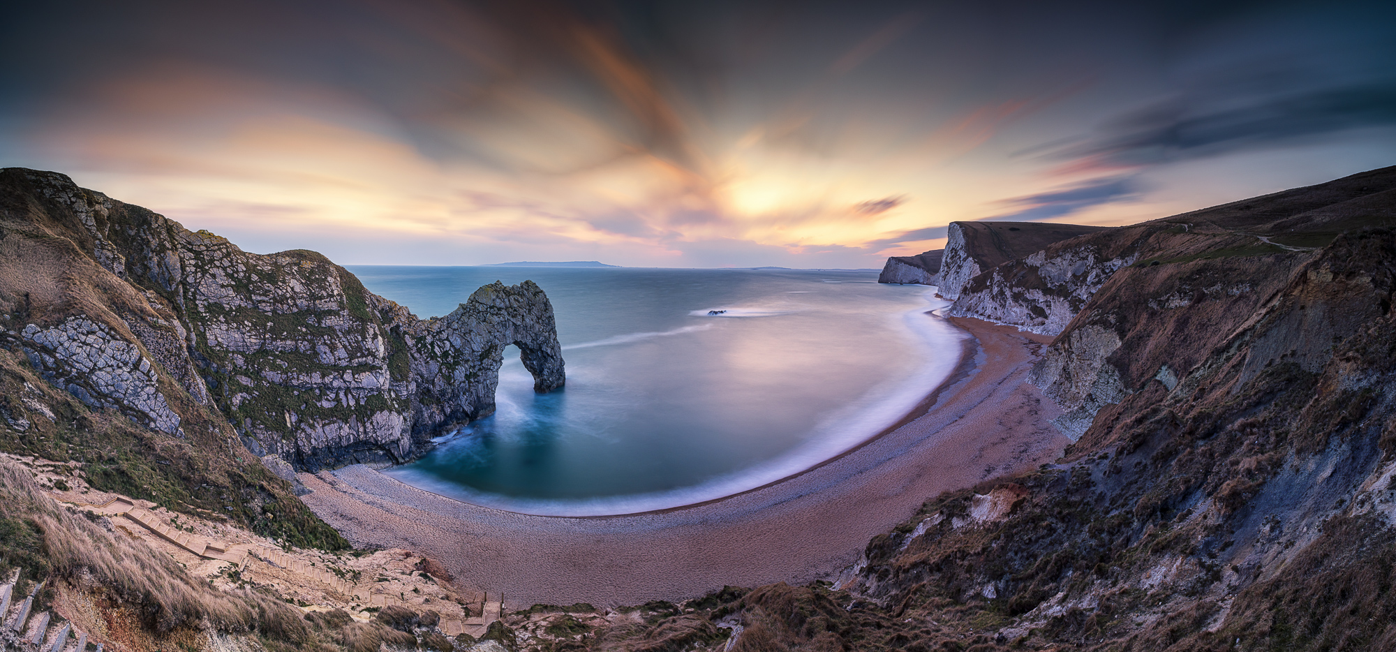 Durdle Door at Sunset, Dorset, England