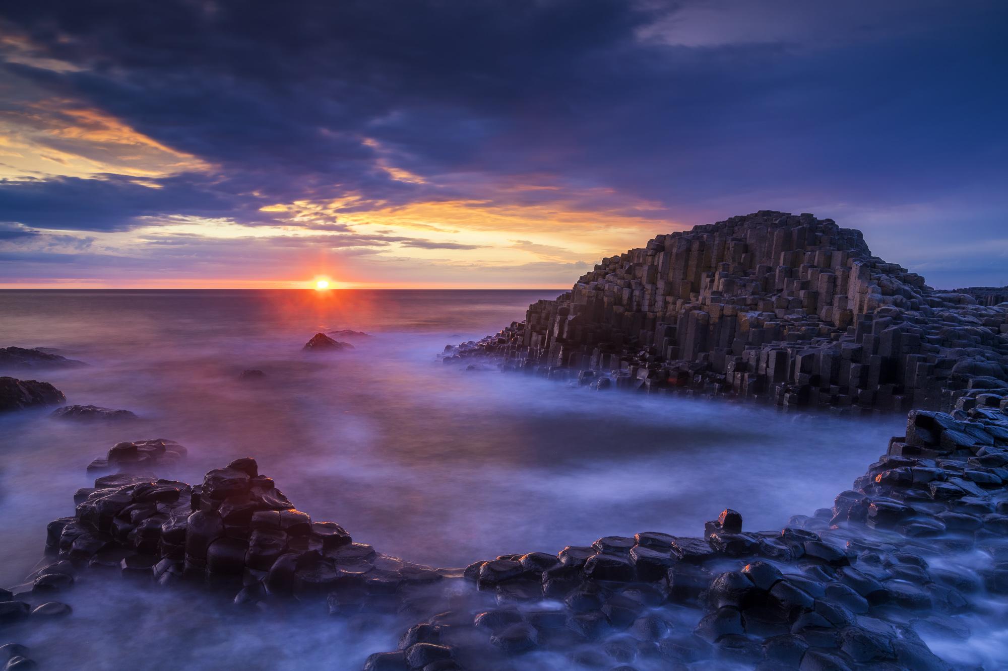Giant's Causeway at Sunset, Co. Antrim, Northern Ireland
